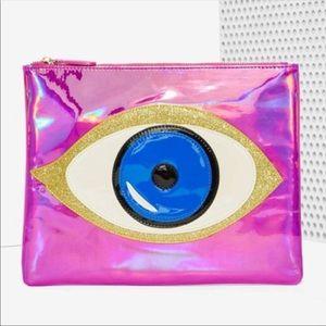 Nila Anthony evil eye Makeup travel bag clutch